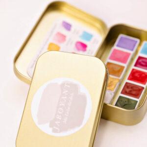 Aquarellkasten GOLD mit 10 verschiedenen Farben